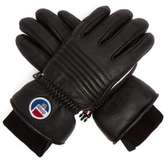 Fusalp - Aksel Technical Leather Ski Gloves - Womens - Black
