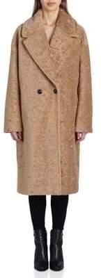AVEC LES FILLES Faux Sherpa Cocoon Coat