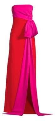 Sachin + Babi Sachin& Babi Women's Roza Colorblock Leg-Slit Gown - Fuschia - Size 2
