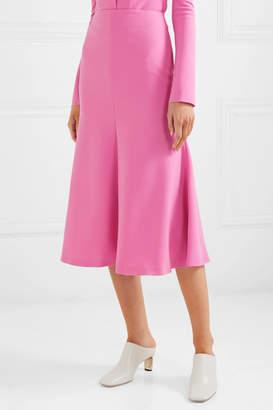 Awake Fluted Crepe Midi Skirt - Pink