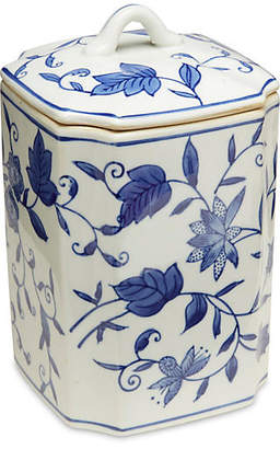"One Kings Lane 8"" Paget Square Canister Blue/White"