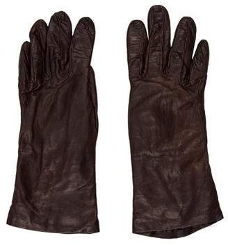 Saks Fifth Avenue Leather Cashmere Gloves