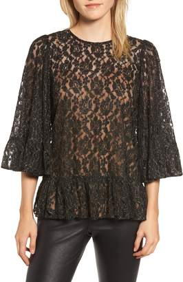 MICHAEL Michael Kors Metallic Lace Top