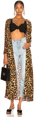 Leone We Are we are Maxi Cardigan in Leopard | FWRD