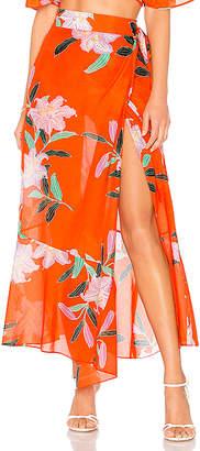 Diane von Furstenberg Draped Wrap Beach Skirt