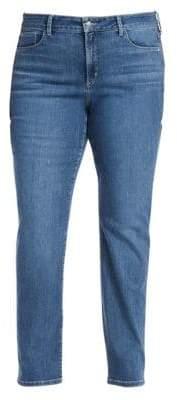 NYDJ NYDJ, Plus Size NYDJ, Plus Size Women's Straight-Leg Whiskered Denim Pants - Hey Burn - Size 24W