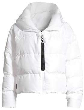 Bacon Women's Hooded Cloud Puffer Coat - White - Size Large