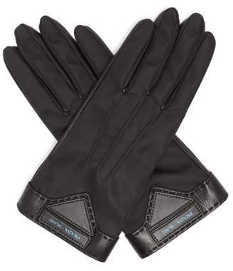 Prada Nylon Gloves - Womens - Black