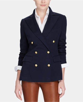Polo Ralph Lauren Knit Double-Breasted Blazer