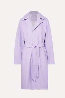 Rains Matte-pu Trench Coat - Lilac