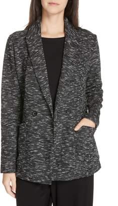 Eileen Fisher Textured Cotton Blend Blazer