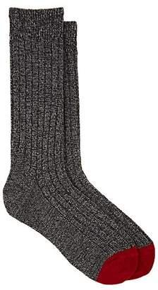 Barneys New York Men's Marled Cashmere-Blend Mid-Calf Socks - Gray