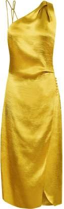 Reiss POSITANO STRAPPY COCKTAIL DRESS Gold