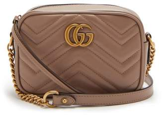 Gucci Gg Marmont Quilted Leather Cross Body Bag - Womens - Nude