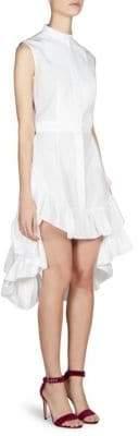 Alexander McQueen Women's Sleeveless Ruffled Bustle Dress - White - Size 40 (4)