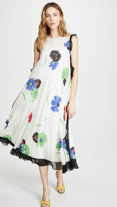 RED Valentino Floral Flounce Dress