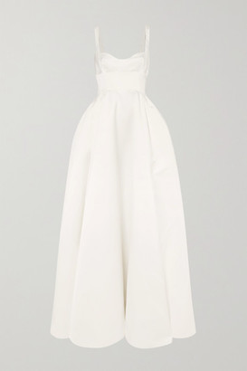 Emilia Wickstead Diamond Duchesse-satin Gown - White