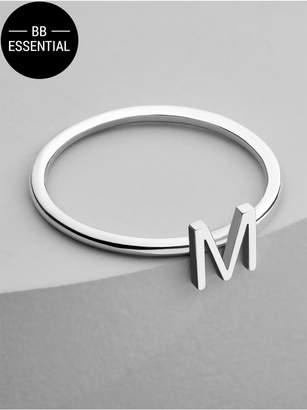 BaubleBar Maya Brenner Initial Ring