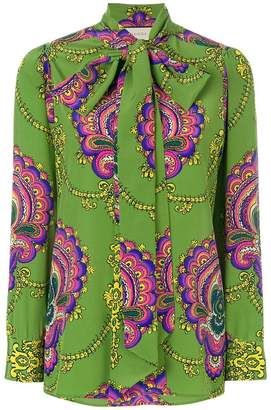 Gucci 70s graphic print blouse