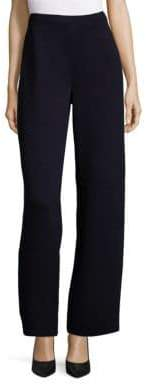 St. John Santana Knit Wide-Leg Pants