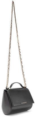 Givenchy Pandora Box Mini Textured-leather Shoulder Bag - Black