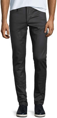 Rag & Bone Men's Standard Issue Fit 1 Slim-Skinny Jeans, Coated Black