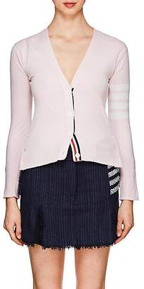 Thom Browne Women's Block-Striped Cashmere Cardigan - Pink