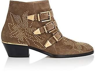 Chloé Women's Susanna Suede Ankle Boots - Dark Greige