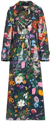 Gucci floral vinyl trench coat