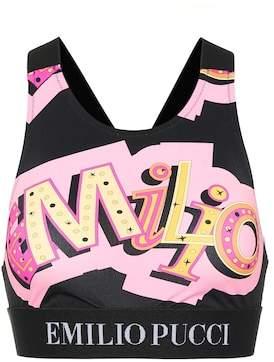 Emilio Pucci Beach Printed sports bra