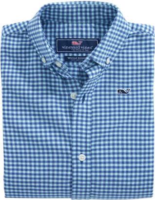 Vineyard Vines Boys Tradewinds Flannel Whale Shirt