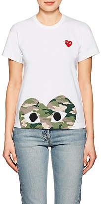 Comme des Garcons Women's Cotton Camouflage Heart T-Shirt - White