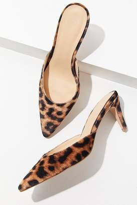 Urban Outfitters Leopard Kitten Heel Mule