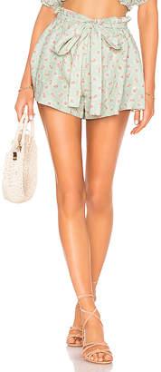 HEMANT AND NANDITA Sana Linen Shorts