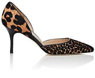 Manolo Blahnik Women's Taylerbibo Calf Hair D'Orsay Pumps - Brown Pony