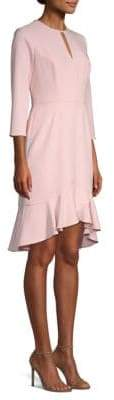 Shoshanna Women's Arnett Ruffled Blouse Dress - Blush - Size 8