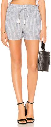 1 STATE Paperbag Waist Linen Stripe Short