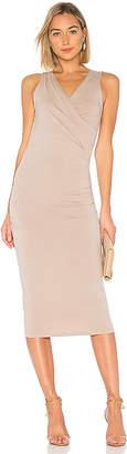 Michael Stars Faux Wrap Tank Midi Dress