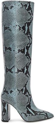 Paris Texas Knee High Boot in Jeans Snake | FWRD