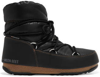 Moon Boot Shell And Faux Leather Snow Boots - Black