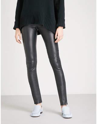 Joseph Panelled leather leggings