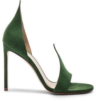 Francesco Russo Flame Heels in Emerald Green | FWRD