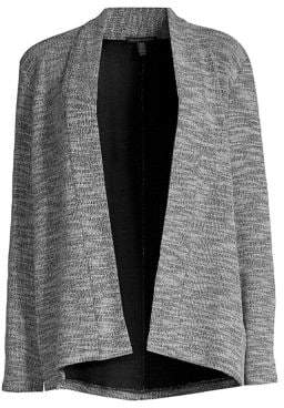 Eileen Fisher Women's Kimono Jacket - White Black - Size XXS