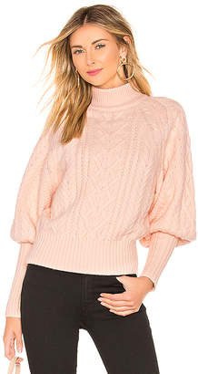 BCBGMAXAZRIA Cable Dolman Sleeve Sweater