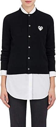 Comme des Garcons Women's Stockinette-Stitched Wool Cardigan - Black