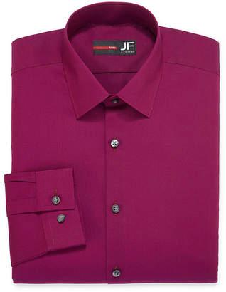 Jf J.Ferrar Easy-Care Solid-Big & Tall Mens Point Collar Long Sleeve Dress Shirt