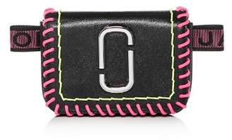 Marc Jacobs Hip Shot Whipstitch Leather Convertible Belt Bag