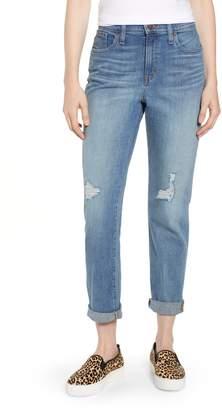 Caslon Arden Ripped High Waist Boyfriend Jeans