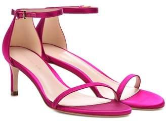 Stuart Weitzman Nudistsong 45 satin sandals