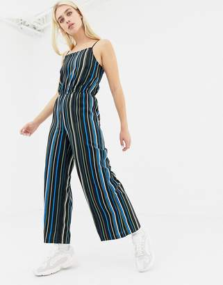 Noisy May stripe wide leg cami jumpsuit